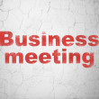 Stock Photo: Business concept: Business Meeting on wall background