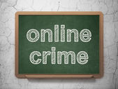 Privacy concept: Online Crime on chalkboard background — Stok fotoğraf