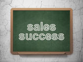 Marketing concept: Sales Success on chalkboard background — Foto Stock