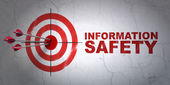 Privacy concept: target and Information Safety on wall background — Stock Photo