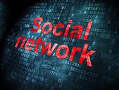 Social media concept: Social Network on digital background — ストック写真