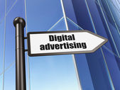 Advertising concept: sign Digital Advertising on Building background — Foto Stock