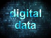 концепция данных: цифровых данных на цифровой фоне — Стоковое фото