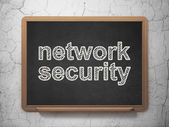 Privacy concept: Network Security on chalkboard background — Stok fotoğraf