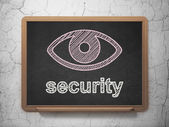 Safety concept: Eye and Security on chalkboard background — Foto Stock