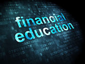 Education concept: Financial Education on digital background — Zdjęcie stockowe