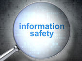 Protection concept: Information Safety with optical glass — Stock Photo