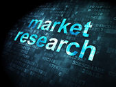 Advertising concept: Market Research on digital background — Stock Photo