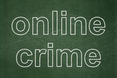 Privacy concept: Online Crime on chalkboard background — Stock Photo