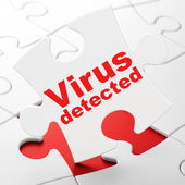 Privacy concept: Virus Detected on puzzle background — Stock Photo