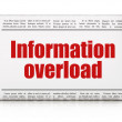 Stock Photo: Datconcept: newspaper headline Information Overload