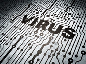 Security concept: circuit board with Virus — Stock Photo
