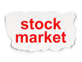Finance concept: Stock Market on Paper background — Stock fotografie