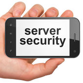 Protection concept: Server Security on smartphone — Stock Photo