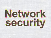 Security concept: Network Security on fabric texture background — Stok fotoğraf