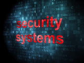 Protection concept: Security Systems on digital background — Stok fotoğraf