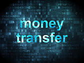 Finance concept: Money Transfer on digital background — 图库照片
