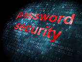 концепция безопасности: безопасность пароля на фоне цифровой — Стоковое фото