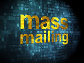 Marketing concept: Mass Mailing on digital background — Stok fotoğraf
