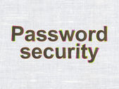 Safety concept: Password Security on fabric texture background — Stock Photo