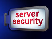 Privacy concept: Server Security on billboard background — Stok fotoğraf
