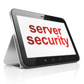 Privacy concept: Server Security on tablet pc computer — Stock Photo