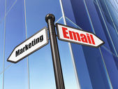 Business concept: sign Email Marketing on Building background — Stock fotografie