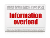Data concept: newspaper headline Information Overload — Stockfoto