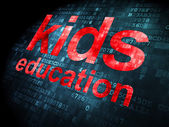 Education concept: Kids Education on digital background — Stockfoto