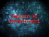 Finance concept: Return of Investment on digital background — Zdjęcie stockowe