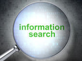 Information concept: Information Search with optical glass — Stock Photo