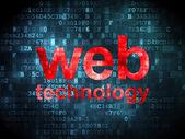 SEO web design concept: Web Technology on digital background — Stockfoto