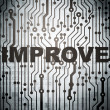 Business concept: circuit board with Improve — 图库照片 #37645241