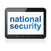 Protection concept: National Security on tablet pc computer — Stock Photo