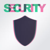 Privacy concept: Shield and word Security — Stock vektor