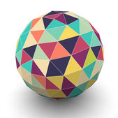 Sphere with triangular faces, vector — Stock Vector