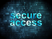 Safety concept: Secure Access on digital background — Stok fotoğraf