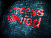 Privacy concept: Access Denied on digital background — Stock Photo