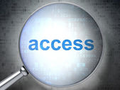 Safety concept: Access with optical glass — Stockfoto