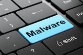 Security concept: Malware on computer keyboard background — Stockfoto