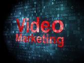 Finance concept: Video Marketing on digital background — Stock Photo