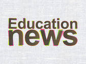 News concept: Education News on fabric texture background — Stock Photo