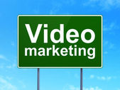 Finance concept: Video Marketing on road sign background — Stock Photo