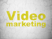 Finance concept: Video Marketing on wall background — Stock Photo