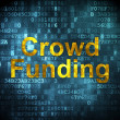 Finance concept: Crowd Funding on digital background — Stock Photo #38252853