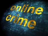 Safety concept: Online Crime on digital background — Stockfoto