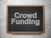 Business concept: Crowd Funding on chalkboard background — Stock Photo