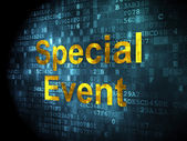 Finance concept: Special Event on digital background — Stock Photo