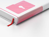 Business concept: closed book, Folder With Keyhole on white background — Stock Photo