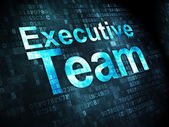 Business concept: Executive Team on digital background — Foto de Stock